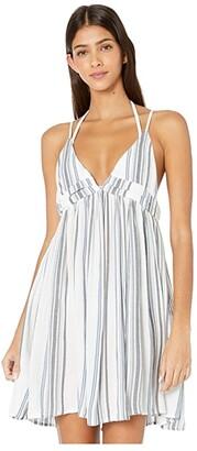 O'Neill Saltwater Solid Stripe Tank Dress Cover-Up (Blue Mirage) Women's Swimwear