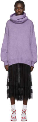 Undercover Purple Oversized Turtleneck