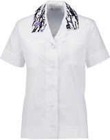 Carven Embellished cotton-poplin shirt