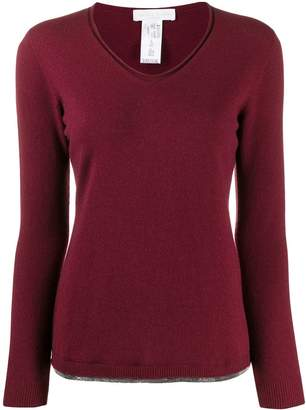 Fabiana Filippi embellished round-neck jumper