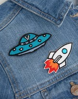 Orelia UFO & Rocket Embroidery Badge