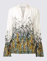 Per Una Floral Print Long Sleeve Shirt