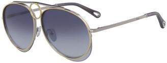 Chloé Romie 61mm Aviator Sunglasses