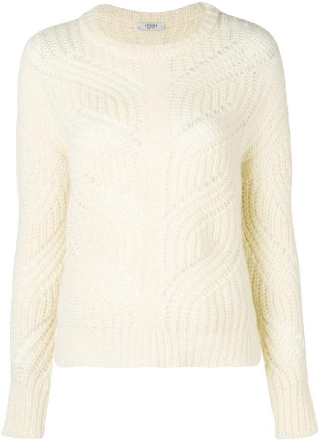 Peserico braid knit sweater