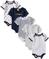Starting Out Baby Boys Newborn-6 Months 5-Pack Sports Bodysuit