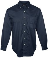 Tri-Mountain Men's Big And Tall Stain Resistant Twill Shirt__