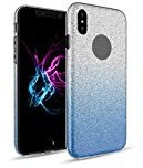 Shinning Slim Scratch Resistant Luxury Thin Painted Ultra-Thin Glitter TPU+PC Case Cover for iPhone 8 (2017) (Purple)