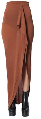 Rick Owens Wrap Front Maxi Skirt
