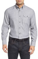 Nordstrom Men's Big & Tall Herringbone Sport Shirt
