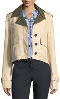 Derek Lam 10 Crosby Short Button-Front Anorak Jacket
