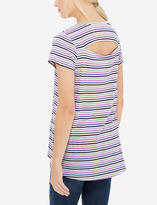 The Limited Striped Back Cutout Tee