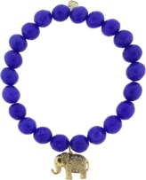 Sydney Evan Diamond Elephant Royal Jade Beaded Bracelet