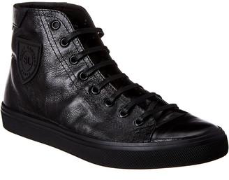 Saint Laurent Bedford High Top Leather Sneaker