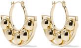 Noir Albedo gold-tone hoop earrings