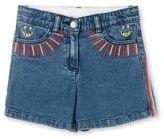 Stella McCartney rainbow embroidered eddie shorts