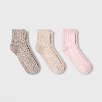 Universal Thread Women' lub 3pk Ankle ock - Univeral ThreadTM - Pink/Cream 4-10