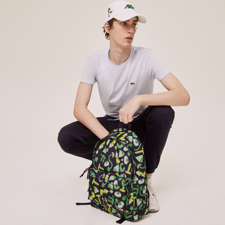 Lacoste Men's x Jeremyville Croc Graphic Printed Backpack