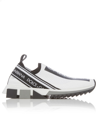 Dolce & Gabbana Logo-Trimmed Leather Slip-on Sneakers