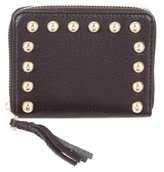 Rebecca Minkoff Stud-Embellished Compact Wallet w/ Tags