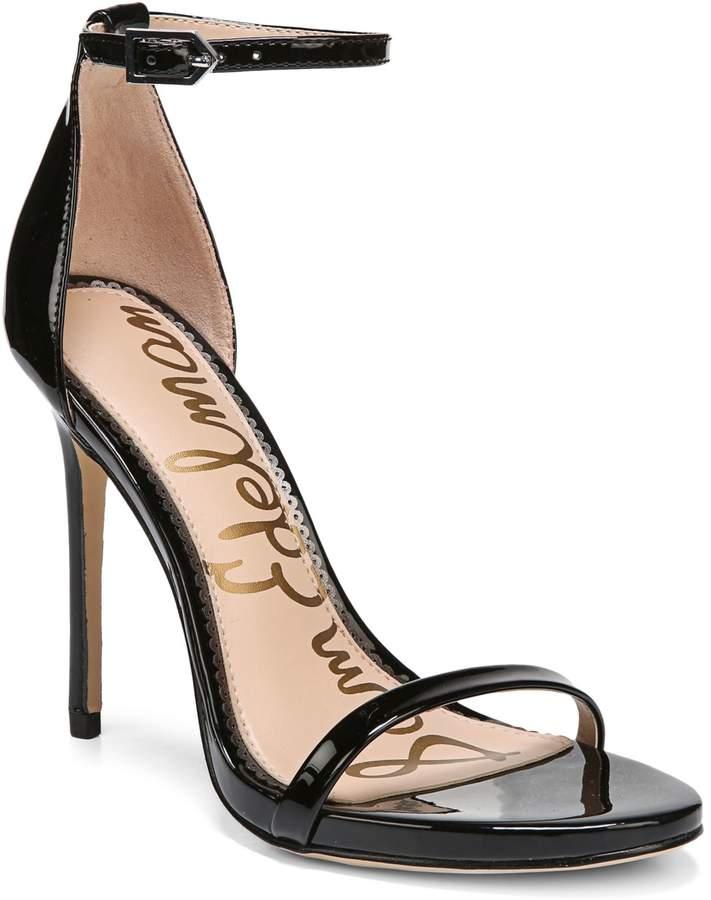Sam Edelman Leather Ankle-Strap Sandals