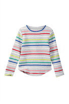 Joe Fresh Stripe Waffle Knit Top (Toddler & Little Girls)