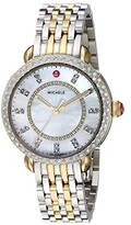 Michele Sidney Classic White Mother-of-Pearl with Diamonds, Two-Tone Silver/Gold (Two-Tone Silver/Gold) Watches