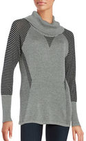 Calvin Klein Mockneck Striped Sweater
