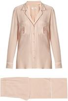 Equipment Sonny long-sleeved silk pyjama set