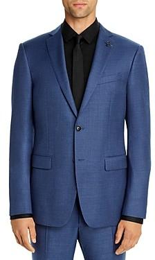 John Varvatos Bleecker Melange Solid Slim Fit Suit Jacket