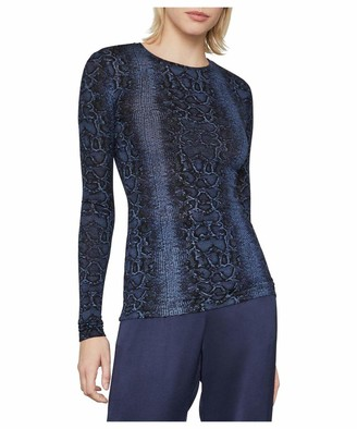 BCBGMAXAZRIA Women's Long Sleeve Crewneck Top