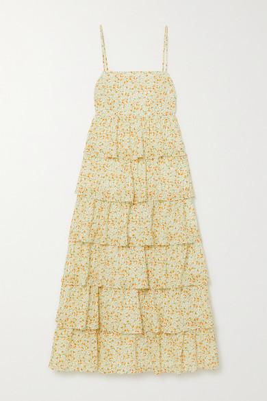 Peony Swimwear + Net Sustain Wildflower Organic Cotton And Ecovero-blend Dress - Pastel yellow