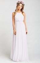 MUMU Amanda Maxi Dress ~ Light Lavender Chiffon