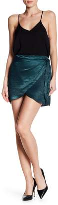 Dee Elly Satin Wrap Mini Skirt
