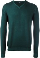 Fay v neck fine knit jumper