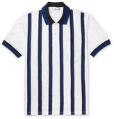 Alexander McQueen Slim-Fit Grosgrain-Striped Cotton-Piqué Polo Shirt