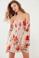 Ecote Elora Floral Off-The-Shoulder Smocked Dress