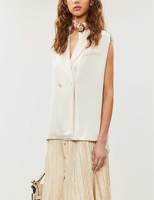 Claudie Pierlot Beforee double-breasted satin shirt