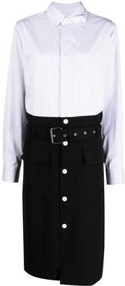 Plan C Cady Belted Shirt Dress
