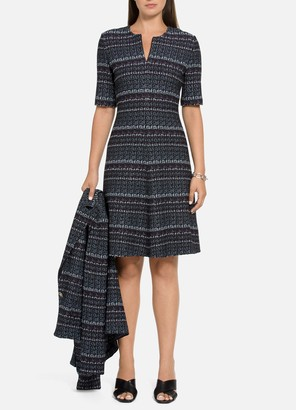 St. John Texture Boucle Tweed Dress