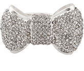 MIXIT Mixit Silver-Tone Bow Stretch Ring