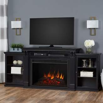 Real Flame Grand TV Stand for TVs up to 88 inches with Fireplace Included Real Flame Color: Black