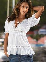 Victoria's Secret Crochet-trim blouse