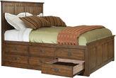 Asstd National Brand Oak Ridge 12-Drawer Storage Bed