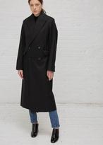 Yang Li black w/ black collar double breasted overcoat