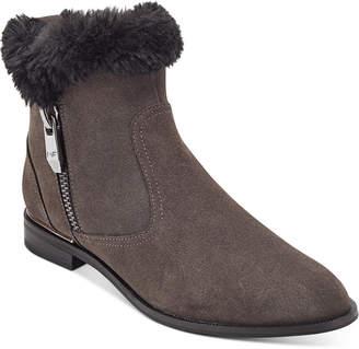 Marc Fisher Rasill Faux-Fur Cuffed Booties Women Shoes