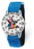 Disney Inside Out Bing Bong, Sadness, Jay Boys' Clear Plastic Time Teacher Watch, Blue Hook and Loop Nylon Strap with Black Backing