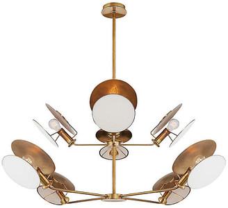Thomas O'Brien For Visual Comfort Osiris Reflector Chandelier - Antiqued Brass