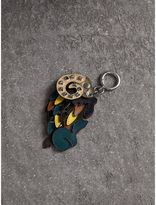 Burberry Beasts Riveted Leather Key Ring
