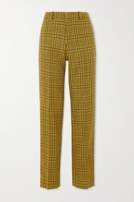 GAUCHERE Rubi Prince Of Wales Checked Wool Straight-leg Pants - Mustard