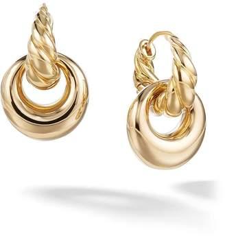 David Yurman 18kt yellow gold Pure Form drop earrings